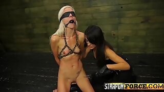 Blondie Strapon Fucked
