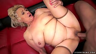 Mature chick Sila fucks with her step son