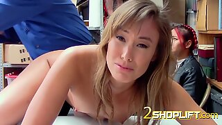 Asian hot milf takes one for the team when officer subdues her into being drilled
