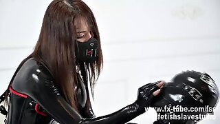 Latex catsuit mistress femdom and breathplay the heavy rubbe