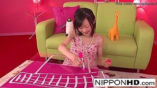 Skinny Asian cutie enjoys some pussy play